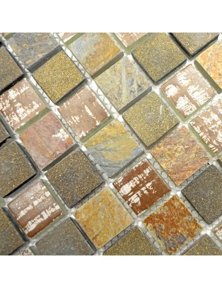Rustik Mosaik Kristall Skiffer Mix
