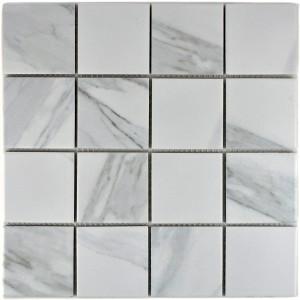 Klinkermosaik Carrara Marmor Optik