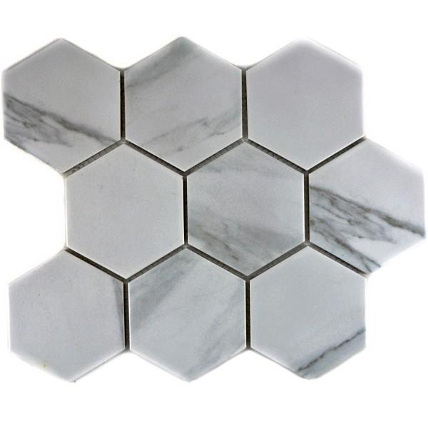 Hexagon Klinker Mosaik Carrara | Ekosten.se