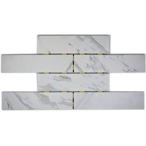 Klinker Murförband Carrara Marmor Optik