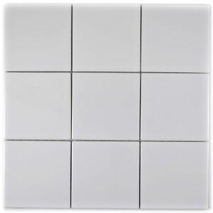Vit Keramikmosaik Blank