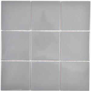 Keramikmosaik Grå Blank