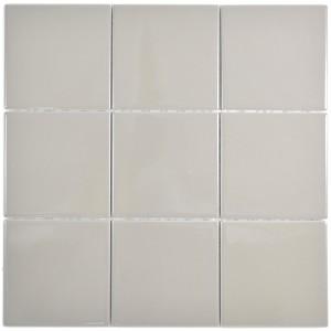 Keramik Mosaik Grå Brun Blank