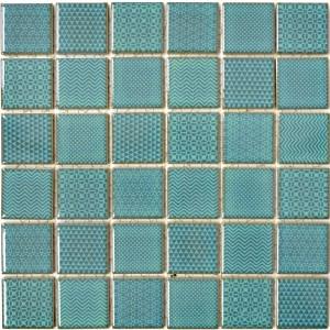 Retro Keramik Mosaik Mönstrad Grön