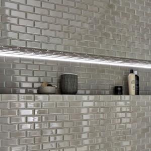 Metro Kakel Mosaik Fasade Kanter Grå
