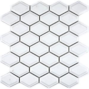 Diamond Metro Kakel Mosaik Vit Blank