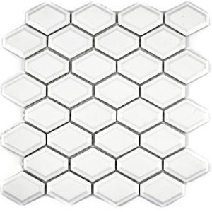 Diamond Metro Kakel Mosaik Vit Matt