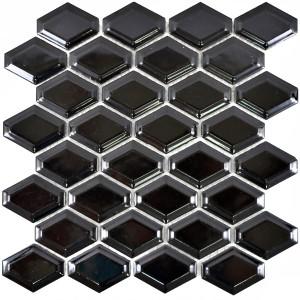 Diamond Metro Kakel Mosaik Svart Blank