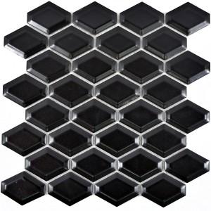 Diamond Metro Kakel Mosaik Svart Matt