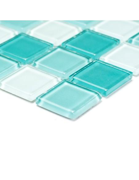 Glas Kristallmosaik Grön Mix