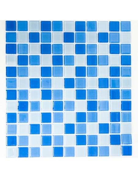 Glas Kristallmosaik Blå Mix