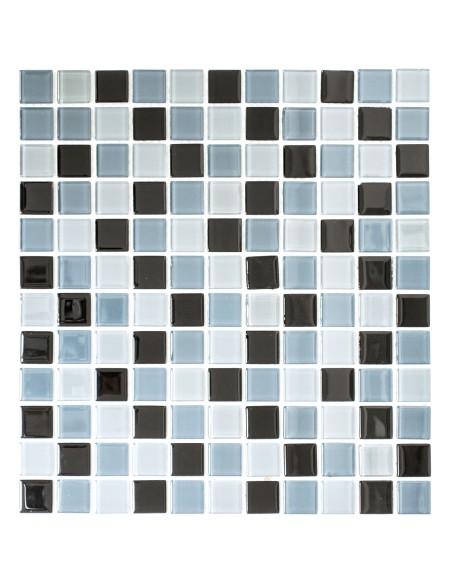 Glas Kristallmosaik Svart Mix