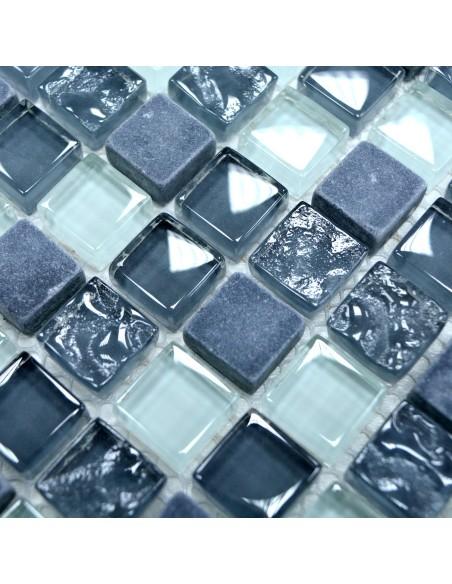 Mosaik Kristall Marmor Mix Grå
