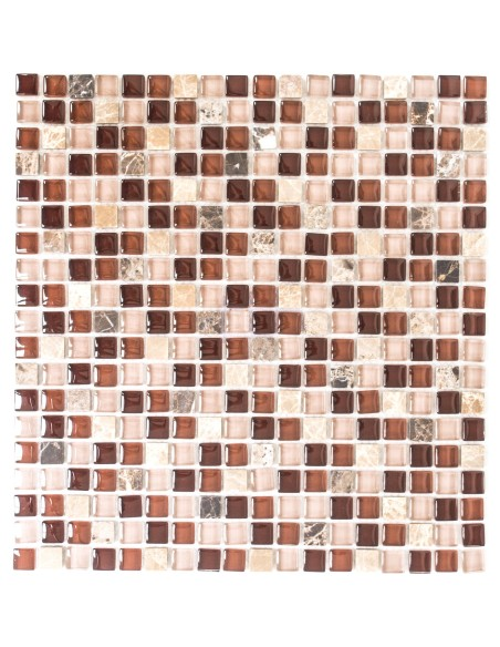 Mosaik Kristall Marmor Mix Brun