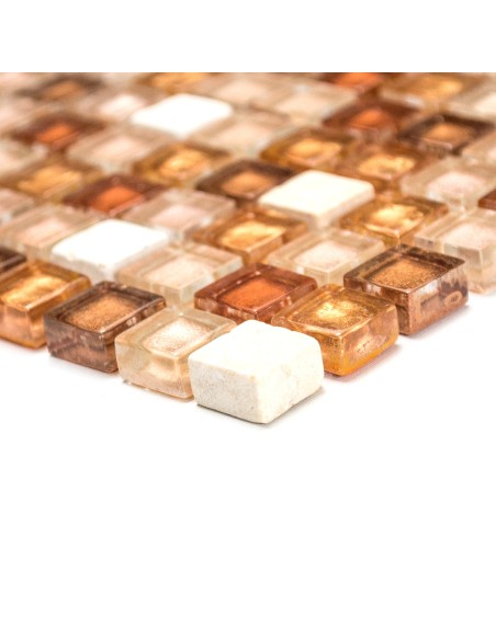 Mosaik Kristall Marmor Guld Rosa Mix | Ekosten.se