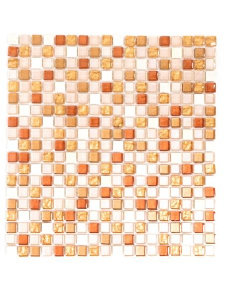 Mosaik Kristall Marmor Guld Rosa Mix