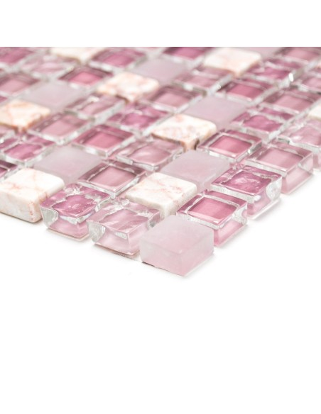 Mosaik Kristall Marmor Rosa Mix   Ekosten.se