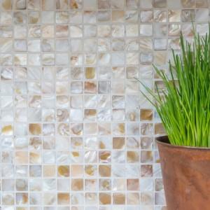 Pärlemor Mosaik Beige Mix