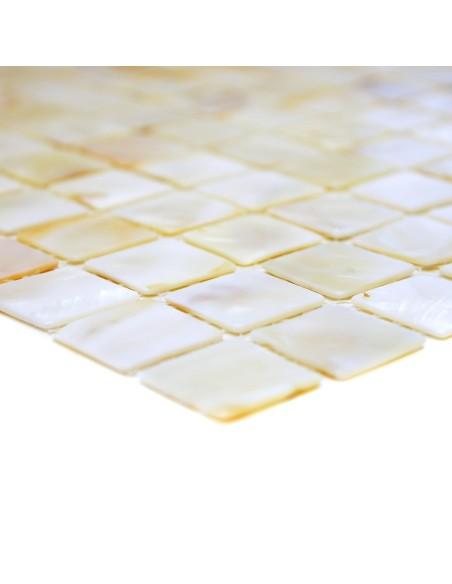 Vit Pärlemor Mosaik