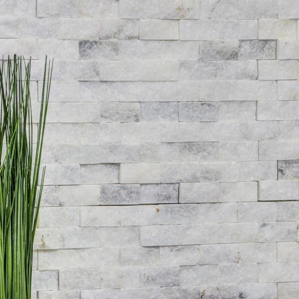 Sten Mosaik Marmor Splitface Ibiza Sugar Vit 3D
