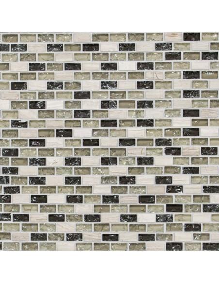 Brick Mosaik Kristall Natursten Mix Grå Grön | Ekosten.se