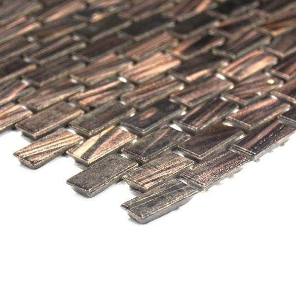 Guldstar Glasmosaik Brun Mix | Ekosten.se