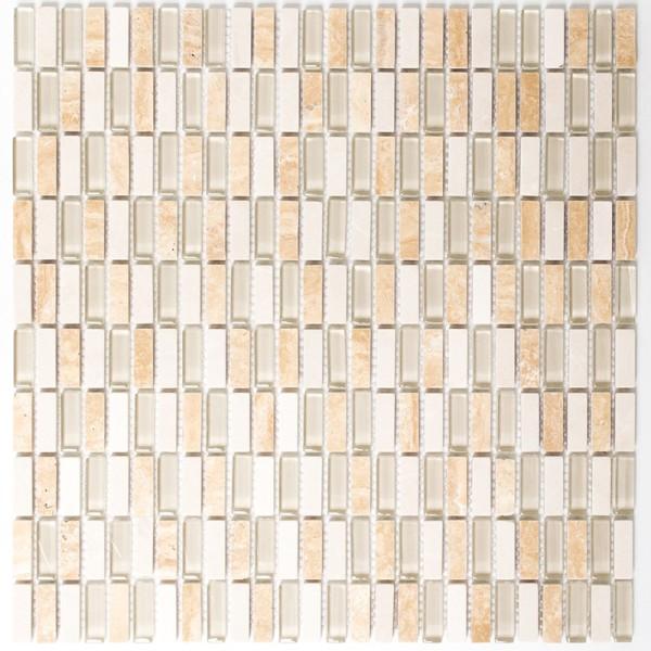 Brick Mosaik Kristall Natursten Mix Beige   Ekosten.se
